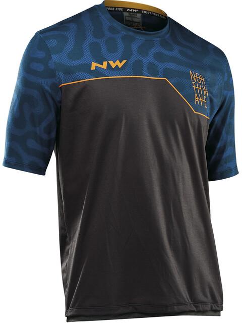 Northwave Enduro MTB Fietsshirt korte mouwen Heren blauw/zwart